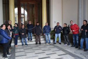 Reggio: protesta a Palazzo San Giorgio per questione alloggi popolari