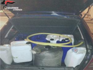 In auto piu' di 200 litri gasolio rubato, 3 denunce nel Cosentino