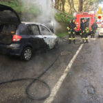 Hyundai Getz distrutta da un incendio nel comune di Borgia