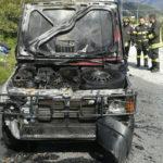 Lamezia: Fiat Panda completamente distrutta da un incendio