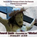 """Lamezia: domani  la tradizionale processione dei """"Mistiari"""""""