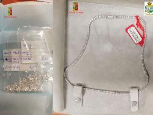 Diamanti nel bagaglio in aeroporto, denunciato a Reggio Calabria