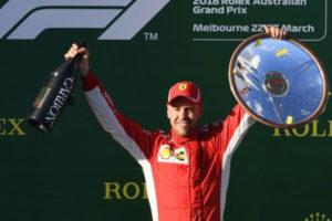 F.1: trionfo Vettel in Australia, e' subito Ferrari