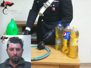 Rubava carburante scuolabus Comune, arrestato dai Carabinieri