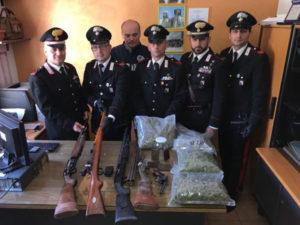 Armi e droga sequestrate nel Cosentino, un arresto