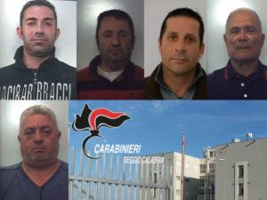 Criminalità: carabinieri eseguono cinque arresti nel reggino