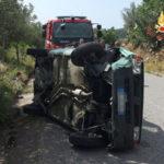 Incidenti stradali: Fiat Panda si ribalta nel comune di Andali