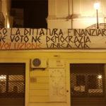 Lamezia: striscione di protesta di Azione Identitaria in Calabria