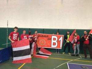 Tennistavolo Castrovillari promossa in serie B1