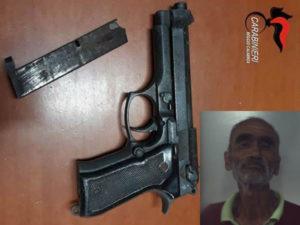 Detiene illegalmente arma clandestina 59enne arrestato