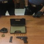 Armi e droga, idraulico arrestato a Reggio Calabria