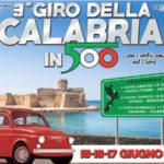 """Automobilismo: al via alla terza edizione del """"Giro della Calabria in 500"""""""