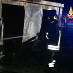 Incendi: fiamme in un cantiere nel quartire lido di Catanzaro