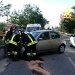 Incidenti stradali: sbanda auto sulla statale 106, un ferito