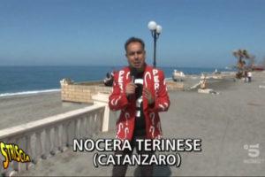 Striscia la Notzia sul lungomare di Nocera Terinese
