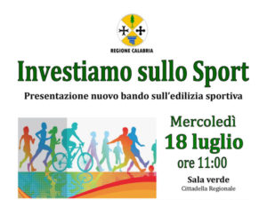 Regione: Oliverio, presenta nuovo bando sull'edilizia sportiva