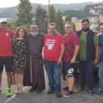 Frate Angelo Gatto ieri é arrivato a Lamezia Terme
