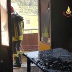 Incendi: fuoco in un abitazione di Nocera Terinese
