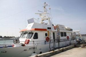 Acque marino costiere: la nave Astrea dell'Ispra in Calabria