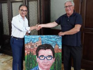 Catanzaro: Teobaldo Rocca, consegna quadro al sindaco Abramo