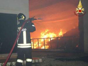 Incendio in area degradata a Crotone, in fiamme anche rifiuti