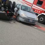 Lamezia: scontro tra una Renault Clio ed un Quad in via Perugini