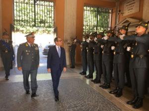 Gdf: ministro Tria in visita al Comando generale