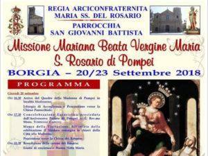 Borgia: sindaco Sacco consegna chiavi città Madonna di Pompei