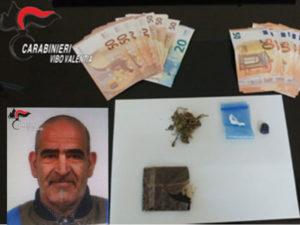 Droga: 50enne arrestato nel Vibonese, denunciato il fratello