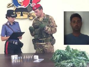 Carabinieri sequestrano droga e munizioni, un arresto nel Reggino