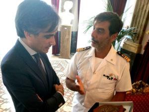Nave Palinuro in porto a Reggio, comandante incontra sindaco