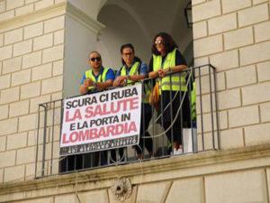 Sanita': dipendenti gruppo Marrelli occupano Palazzo Alemanni
