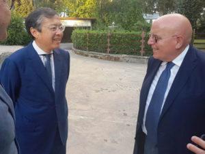 Il presidente Oliverio incontra il ministro cinese Li Bin