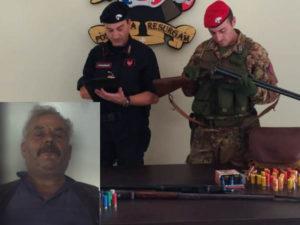 Armi: 63enne arrestato dai Carabinieri nel Reggino