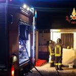 Incendi: fiamme in un container a Catanzaro località Germaneto