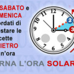 Ora solare: torna domenica, alle 3 lancette indietro di 60 minuti