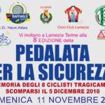 """Lamezia: 11 novembre 2018 """"Pedalata per la Sicurezza"""""""