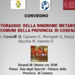 Cosenza: convegno sulla patologia sindrome metabolica