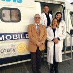"""Vaccini gratuiti con il  """"Camper Salute"""" del Rotary ad Acconia"""