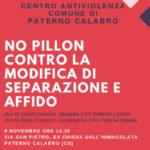 """Paterno Calabro: Centro antiviolenza Comune """"No Pillon"""""""