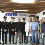 Avis Provinciale e Carabinieri: donazione sangue indossa l'uniforme