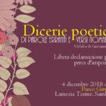 Lamezia,Dicerie poetiche: la poesia al parco Gancìa
