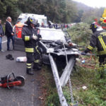 Incidenti: auto contro guardrail nel Catanzarese, conducente ferito