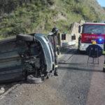 Incidenti: Fiat Panda si ribalta sulla statale 280, un ferito