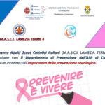 Lamezia: incontro prevenzione tumori, MASCI 4 e Centro Screening