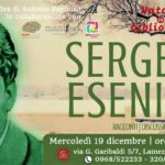 """Lamezia, mercoledì torna """"Suicidi letterari"""" con il poeta Sergej Esenin"""