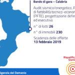 Demanio: online bando piano riqualificazione sismica Calabria