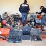 Attrezzi rubati a Catanzaro, recuperati dalla Polizia e restituiti