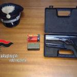 Pistola e munizioni nel materasso, un arresto nel Vibonese