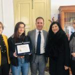 Villa: sindaco incontra studentessa premiata con il Giovanni Grillo